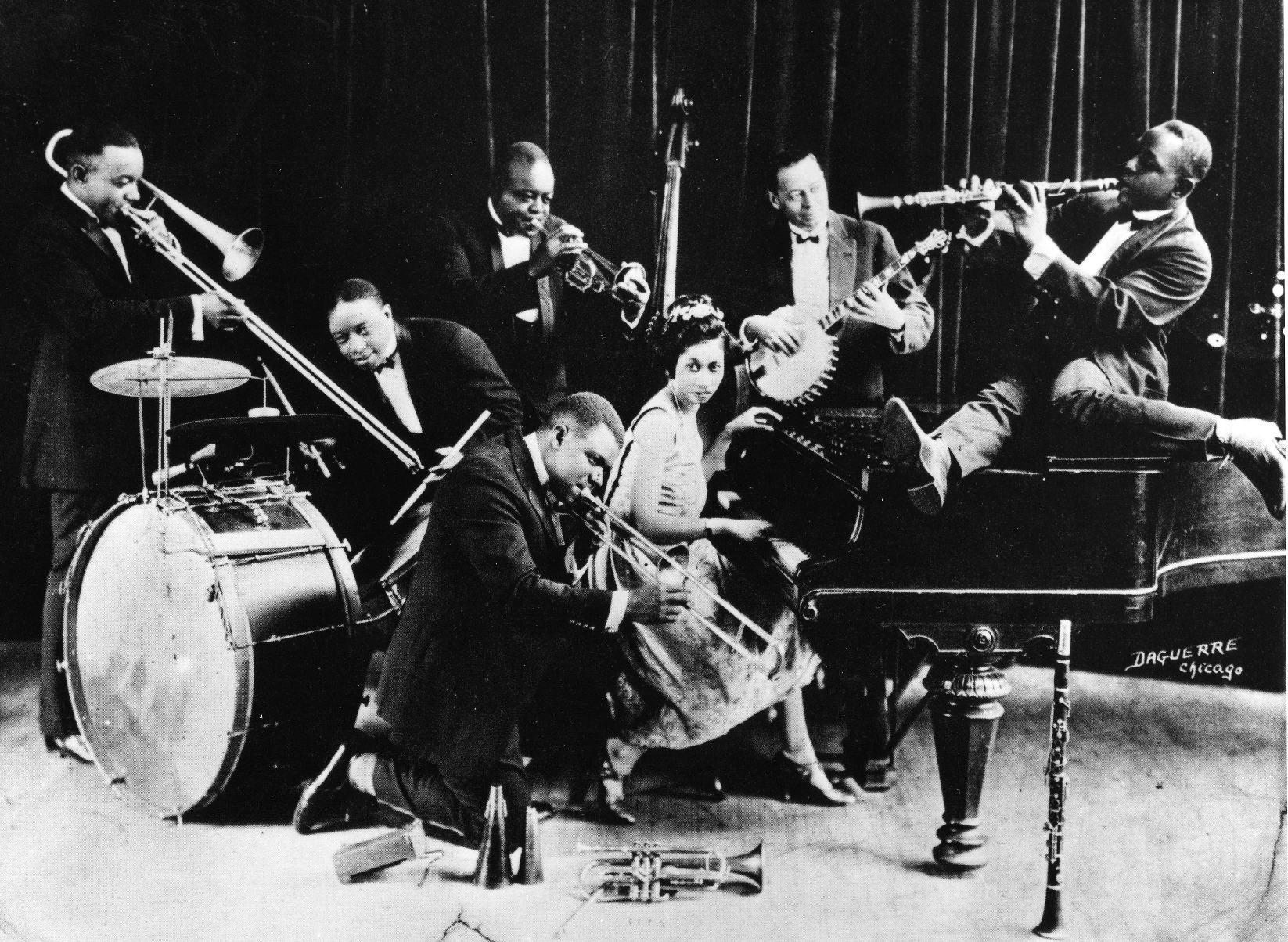 Creole Band de King Oliver y Louis Armstrong