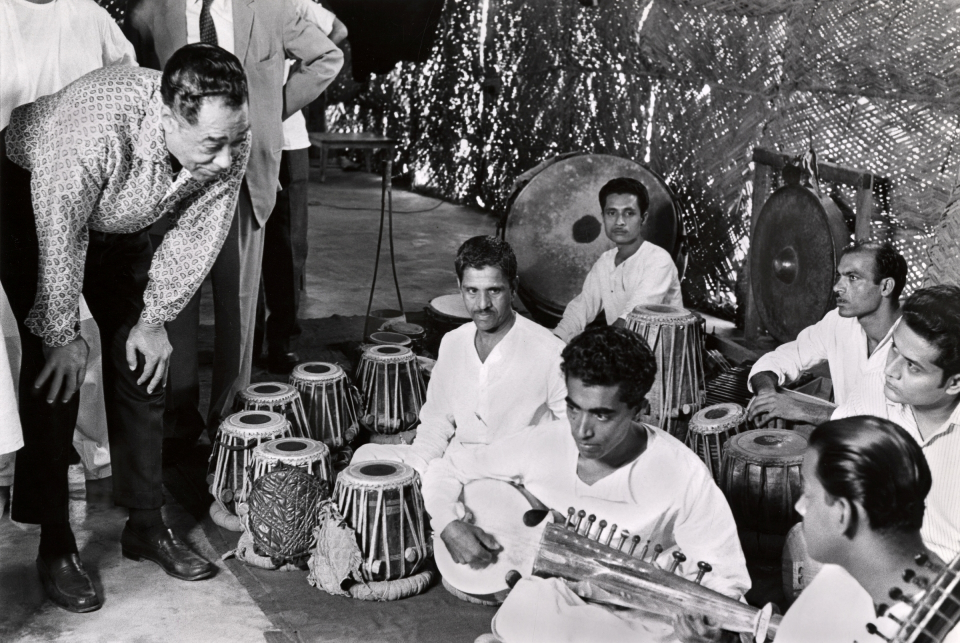 NMAH Archives Center Duke Ellington Collection Collection No. 301 Series 7, Box 4, Folder 24, Item * 8cc Duke with group of Indian musicians; India.