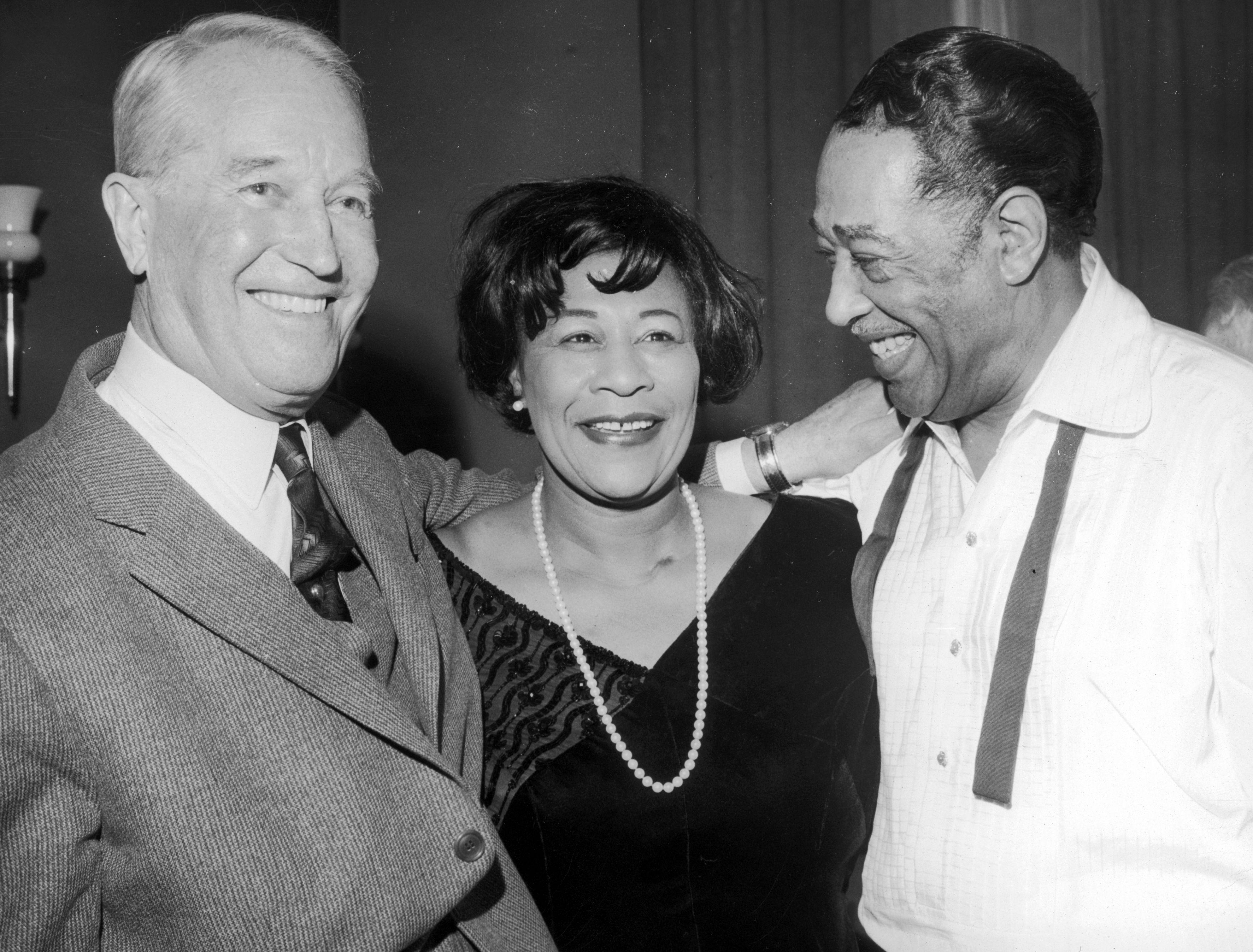 Ella Fitzgerald, Maurice Chevalier y Duke Ellington