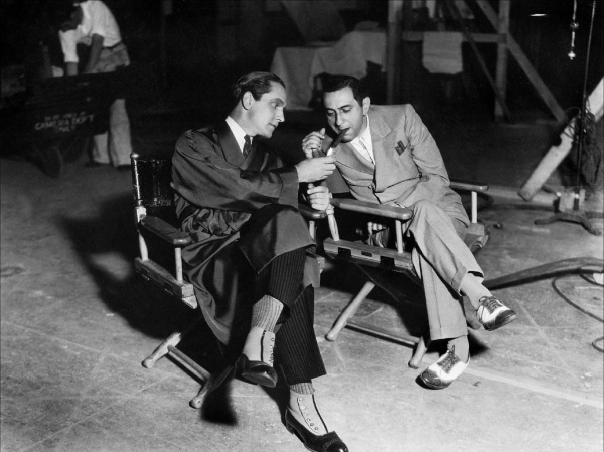 Ernst Lubitsch and Fredric Marchon