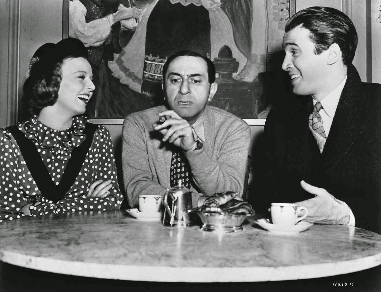 """Margaret Sullavan, Ernst Lubitsch & James Stewart en el rodaje de """"El bazar de las sorpresas"""""""