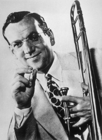 Glenn-Miller-BW-Trombone-and-Cigarette
