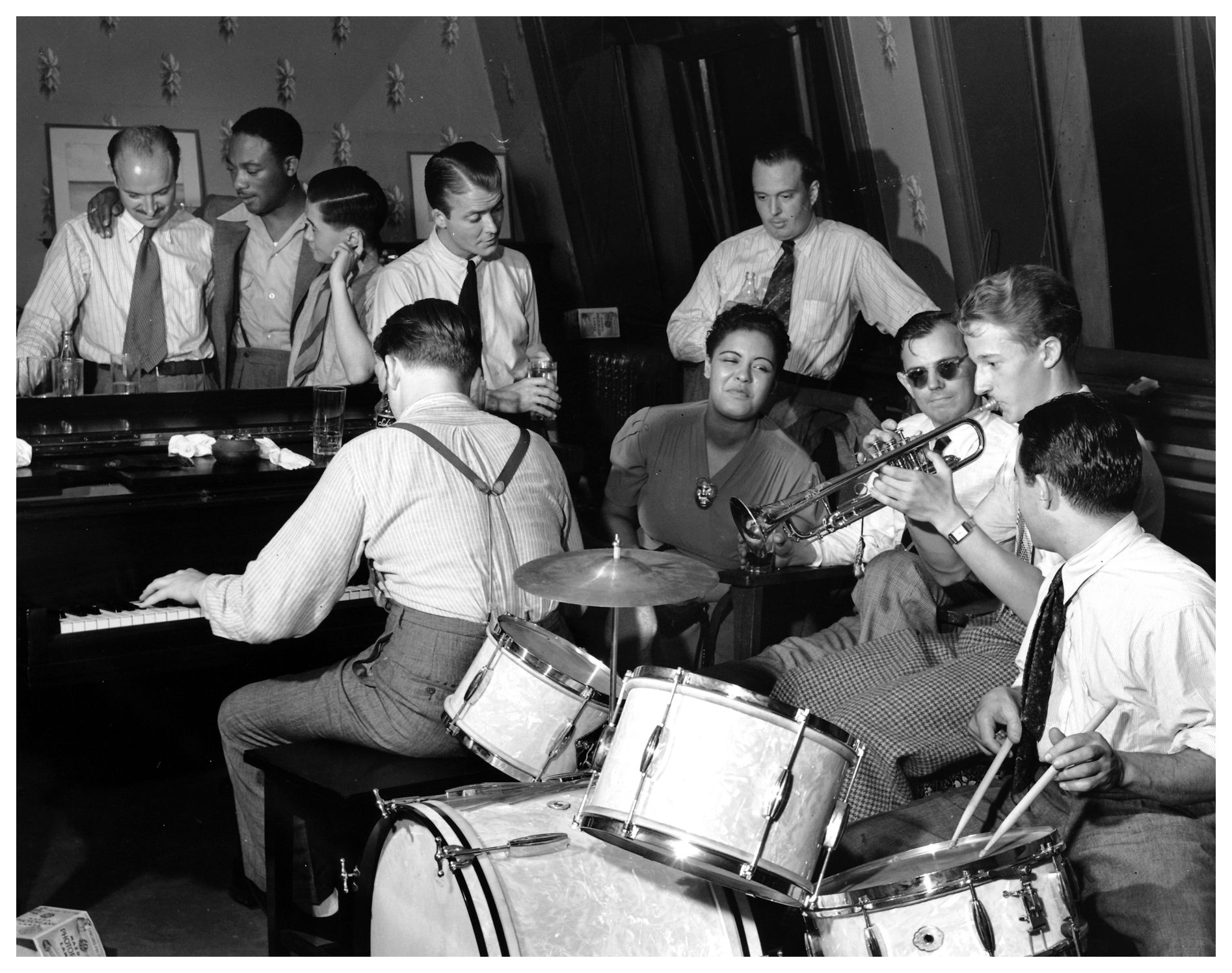 Bud Freeman,JC Higginbotham,Harry Lim,Eddie Condon,Ernie Anderson Pubblicist,Max Kaminsky's,Billie Holiday